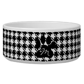 Classic Houndstooth Pattern Dog Bowls