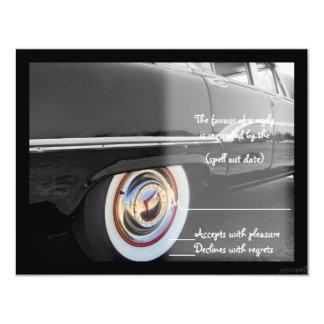 "classic i car rsvp 4.25"" x 5.5"" invitation card"