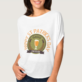 Classic Irish Badge with Happy St Patricks Day T-Shirt