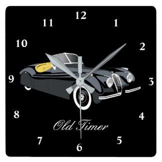 Classic Jaguar Car 'Old Timer' Wall Clock