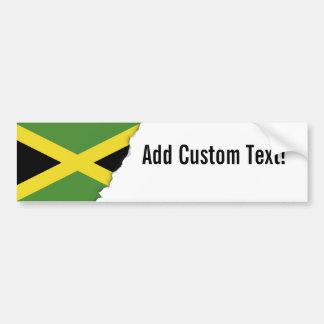 Classic Jamaican Flag Bumper Sticker