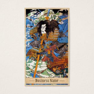 Classic japanese legendary samurai warrior art business card