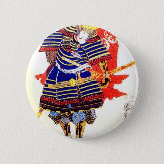 Classic Japanese Samurai Art Japan 2 Inch Round Button