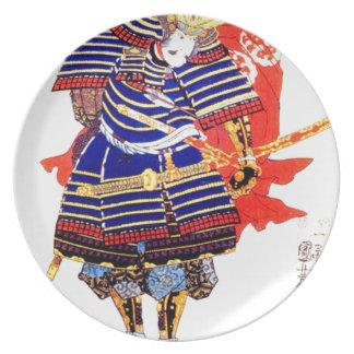 Classic Japanese Samurai Art Japan Plates
