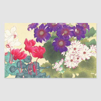 Classic japanese vintage watercolor flowers art
