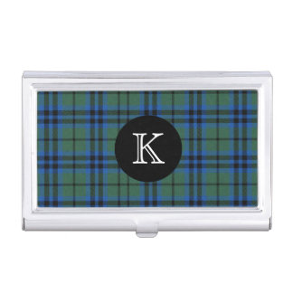 Classic Keith Tartan Plaid Monogram Business Card Holder