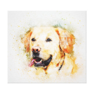 Classic Labrador Retriever Dog Art Portrait Canvas Print