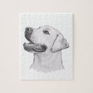 Classic Labrador Retriever Dog profile Drawing Puzzle