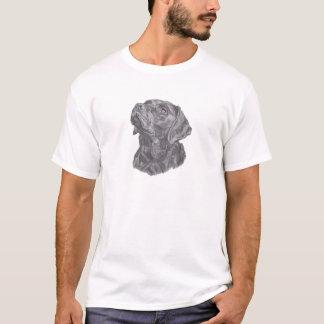 Classic Labrador Retriever Dog profile Drawing T-Shirt