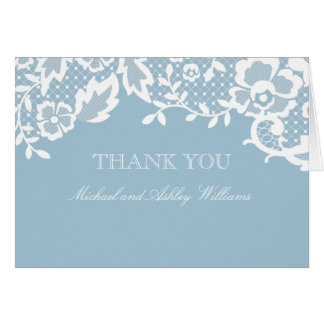 Classic Lace Thank You Note Card