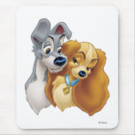 Classic Lady and the Tramp Snuggling Disney Mouse Pads