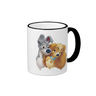 Classic Lady and the Tramp Snuggling Disney Coffee Mugs