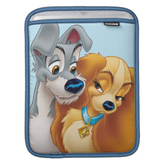 Classic Lady and the Tramp Snuggling iPad Sleeves