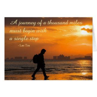 Classic Lao Tzu Journey Quote Card