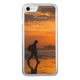 Classic Lao Tzu Journey Quote Carved iPhone 8/7 Case