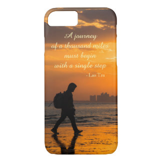Classic Lao Tzu Journey Quote iPhone 8/7 Case