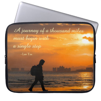 Classic Lao Tzu Journey Quote Laptop Sleeve