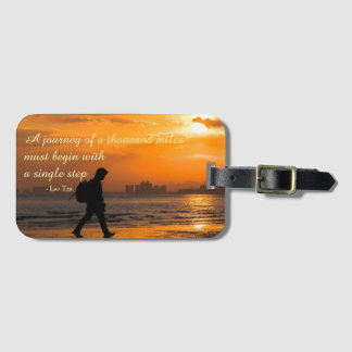 Classic Lao Tzu Journey Quote Luggage Tag