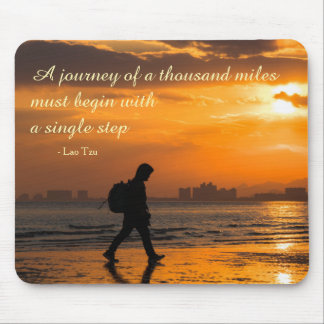 Classic Lao Tzu Journey Quote Mouse Pad