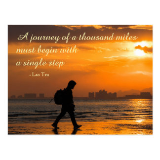 Classic Lao Tzu Journey Quote Postcard