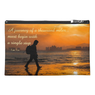 Classic Lao Tzu Journey Quote Travel Accessories Bag