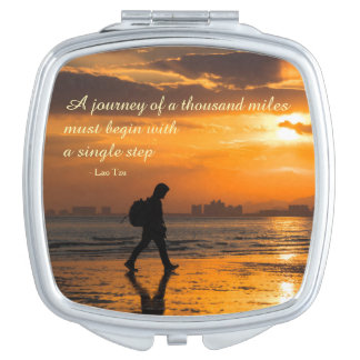 Classic Lao Tzu Journey Quote Vanity Mirrors