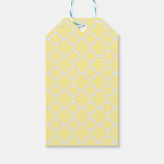 Classic Lattice quatrefoil in Canary yellow Gift Tags