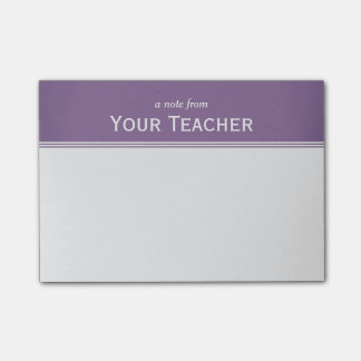 "Classic Lavender Purple Personalized 4"" x 3"" Post-it Notes"