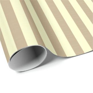Classic Lemon Yellow Pastel Beige Stripes Paris Wrapping Paper