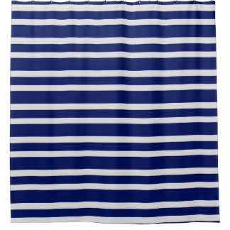 Classic Light Gray Navy Blue Stripe Pattern Custom