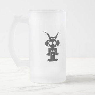 classic logo LIQUID SKY DRINK Frosted Glass Beer Mug