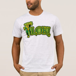 Classic Loki Character And Name Graphic T-Shirt