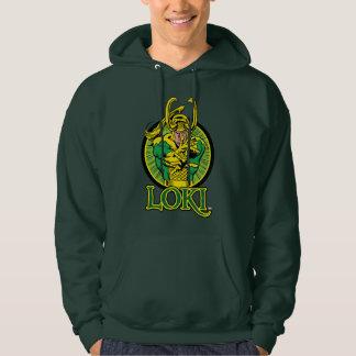 Classic Loki Character Badge Hoodie