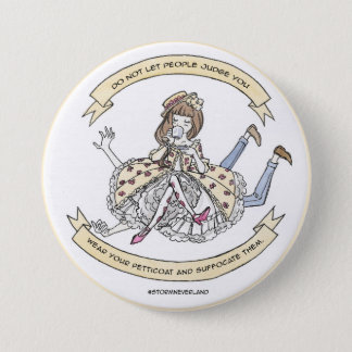 Classic Lolita Suffocate 3 Inch Round Button