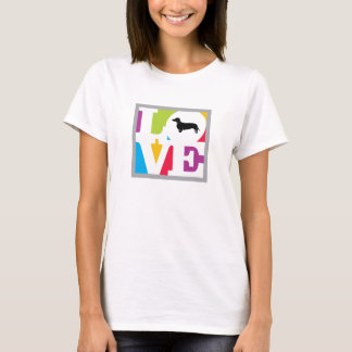 Classic Love Dachshund in Color T-Shirt