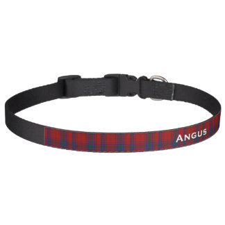 Classic MacDougall Tartan Plaid Custom Dog Collar