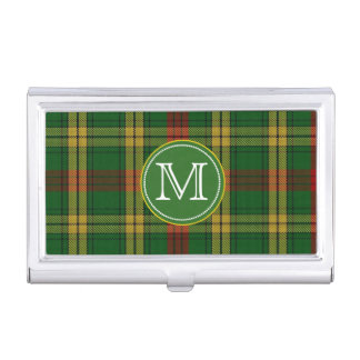 Classic MacMillan Tartan Plaid Monogram Business Card Holder