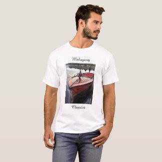 Classic mahogany boat print on a t-shirt