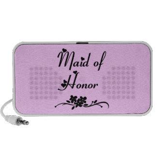 Classic Maid Of Honor Laptop Speakers