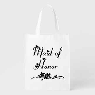 Classic Maid Of Honor Reusable Grocery Bag