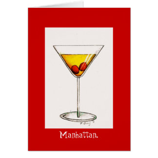 Classic Manhattan Cocktail Cocktails Drink Card