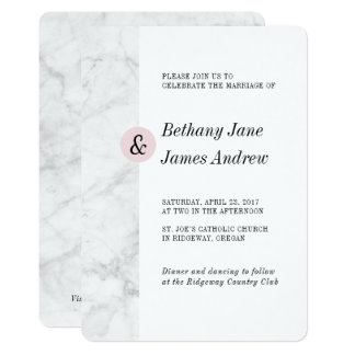 Classic Marble Wedding Invite