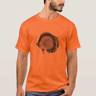 Classic Marine Etching - Butterfly Fish T-Shirt