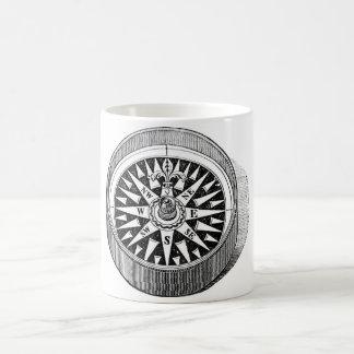 Classic Marine Etching - Compass Coffee Mug