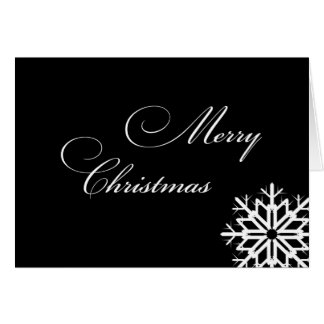 Classic Merry Christmas Snowflake Card
