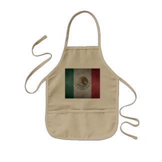 Classic Mexican Flag Kids Apron