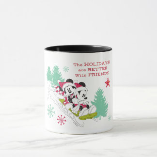 Classic Mickey and Minnie | Snow Sledding Mug