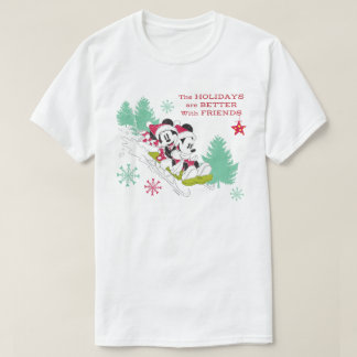 Classic Mickey and Minnie | Snow Sledding T-Shirt