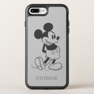 Classic Mickey   Black and White OtterBox Symmetry iPhone 7 Plus Case