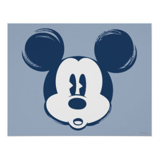 Classic Mickey | Blue Head Poster